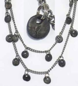 Charmed Chain Necklace (in steel) by Kim Klinkrodt