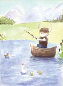 Frank and the Duckies, from Frank the Gentle Viking by Lucy Elliott