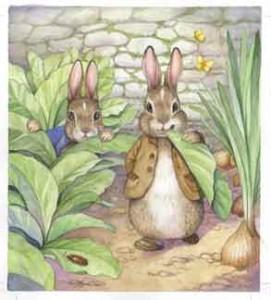 Benjamin Bunny, illustration by Wendy Rasmussen