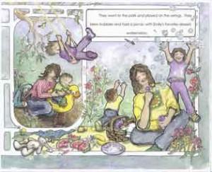 Interior illustration from Still a Family