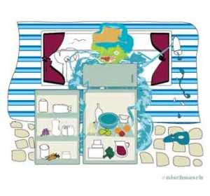 The Fuzzy Fella interior illustration