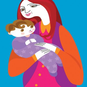 """In Nana's Arms."" Illustration by Carlos Brito."