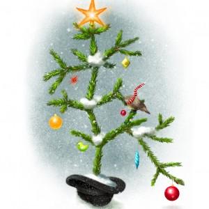 Darwin Christmas Tree Card