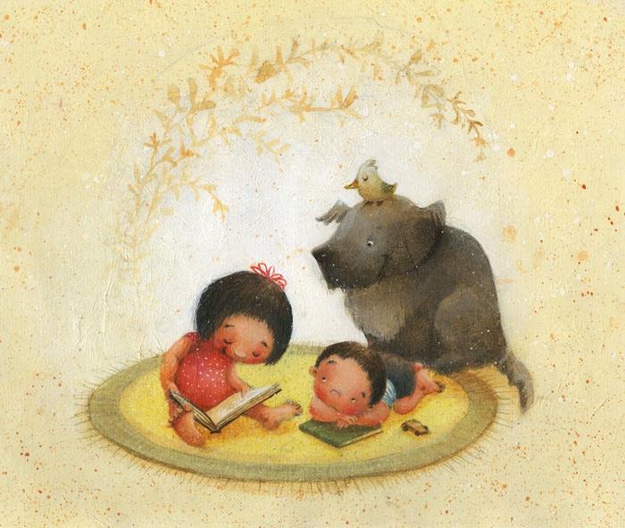 """Summer Read"" by Juana Martinez-Neal"