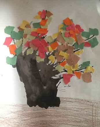 """Tree"" by Liam John Alex. Texture and color. This little boy gets it."