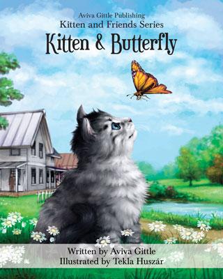 Kitten & Butterfly by Aviva Gittle Cover